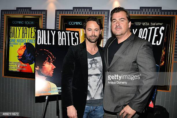 James Wirt and Burton Machen attend the BILLY BATES LA Premiere Directed By Jennifer DeLia Starring James Wirt And Savannah Welchl Produced By Julie...