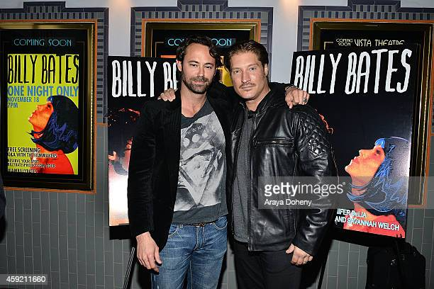 James Wirt and Sean Kanan attend the BILLY BATES LA Premiere Directed By Jennifer DeLia Starring James Wirt And Savannah Welchl Produced By Julie...