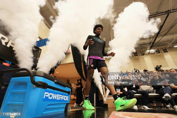 James Wiseman is introduced during the 2019 Powerade Jam Fest on March 25 2019 in Marietta Georgia