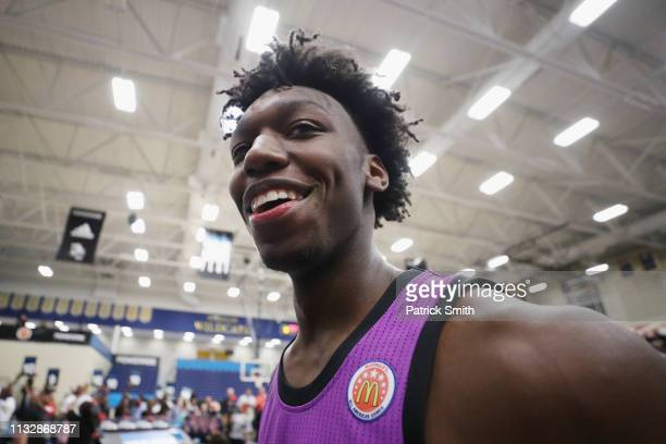 James Wiseman reacts during the 2019 Powerade Jam Fest on March 25 2019 in Marietta Georgia