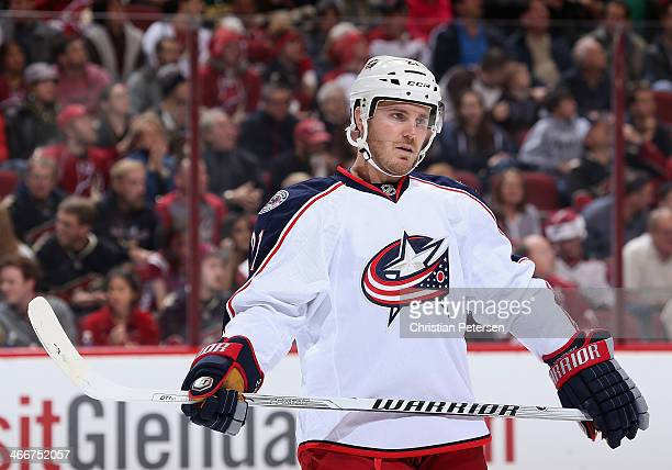 James Wisniewski of the Columbus Blue Jackets during the NHL game against the Phoenix Coyotes at Jobingcom Arena on January 2 2014 in Glendale...