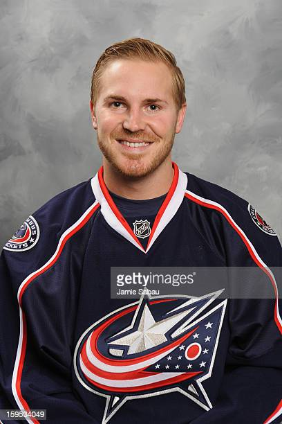 James Wisniewski of the Columbus Blue Jackets poses for his official headshot for the 20122013 season on January 13 2013 at Nationwide Arena in...