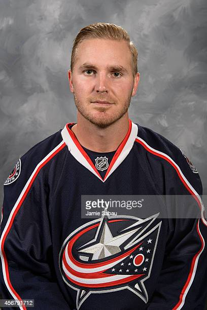 James Wisniewski of the Columbus Blue Jackets poses for his official headshot for the 20142015 season on September 18 2014 at the Nationwide Arena in...