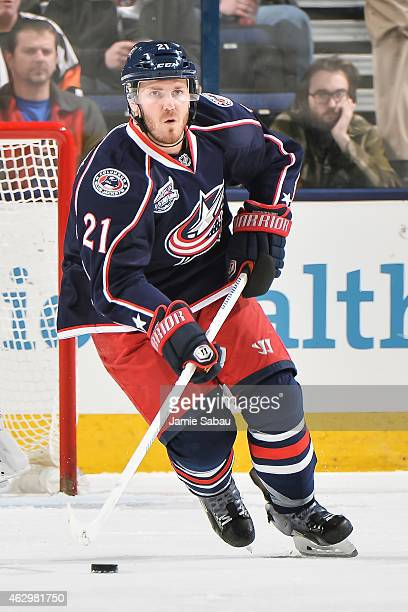 James Wisniewski of the Columbus Blue Jackets skates against the St Louis Blues on February 6 2015 at Nationwide Arena in Columbus Ohio Columbus...