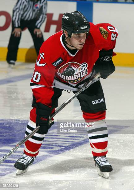 James Wisniewski of the Norfolk Admirals skates during the game with the Bridgeport Sound Tigers November 2 2005 in Bridgeport Connecticut The...