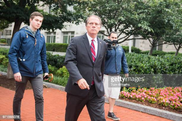 James Wolfe a former Senate Intelligence Committee aide leaves the FBI's Washington Field Office after being booked on June 11 2018 He is accused...