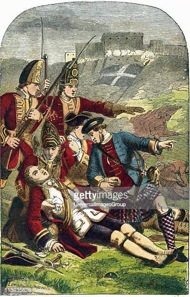 James Wolfe English soldier Death of General Wolfe on the Heights of Abraham as Quebec was captured from the French who also lost their commander...