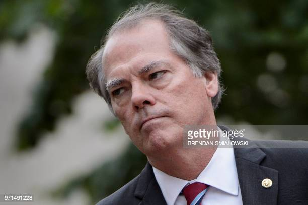James Wolfe former director of security for the Senate Intelligence Committee walks into the FBI Washington Field Office June 11 2018 in Washington DC