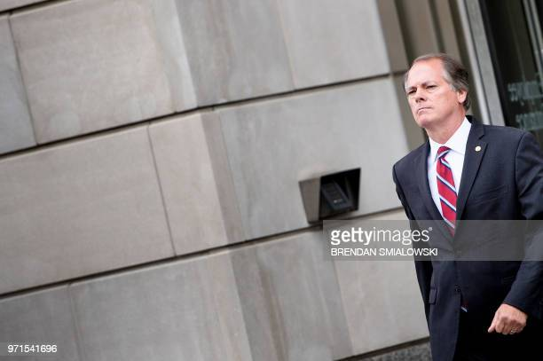 James Wolfe the former director of security for the Senate Intelligence Committee leaves the FBI Washington Field Office June 11 2018 in Washington DC