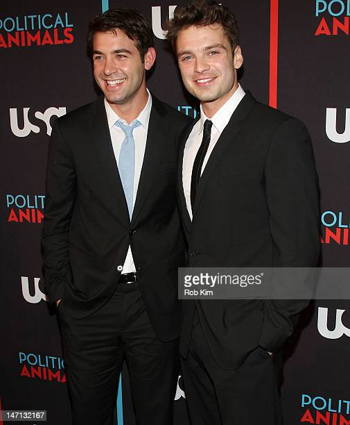 James Wolk and Sebastian Stan attend the 'Political Animals' premiere at The Morgan Library Museum on June 25 2012 in New York City
