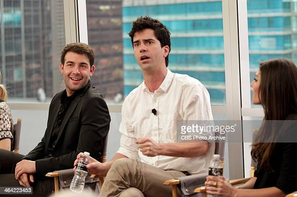 James Wolk Hamish Linklater and Amanda Setton of the CBS comedy THE CRAZY ONES participate in a Television Critics Association press conference on...