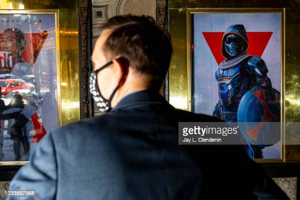 James Wood, general manager of the El Capitan Theatre, on Hollywood Blvd, in the heart of Hollywood, CA, is seen standing in front of posters for the...