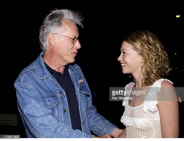 James Woods and Amanda Detmer during Ministry of Sound Europe's Brand Hosts Launch of Fatboy Slim's Album Live on Brighton Beach at Maison 140 in...