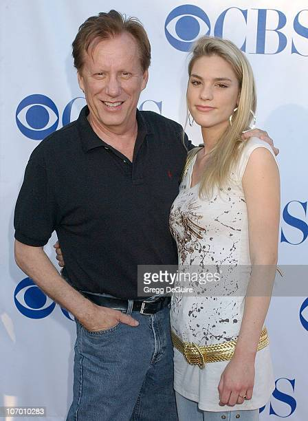 James Woods and Ashley Madison during CBS Summer 2006 TCA Press Tour Party - Arrivals at Rose Bowl in Pasadena, California, United States.