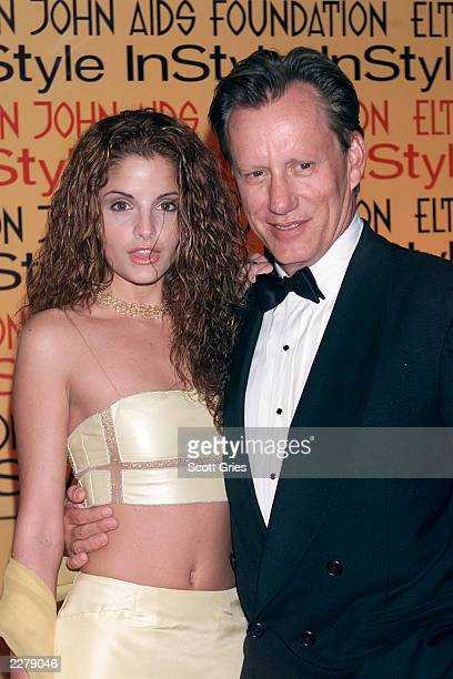 James Woods and date at Elton John Aids Foundation/InStyle Oscar Party in Los Angeles on March 26 2000