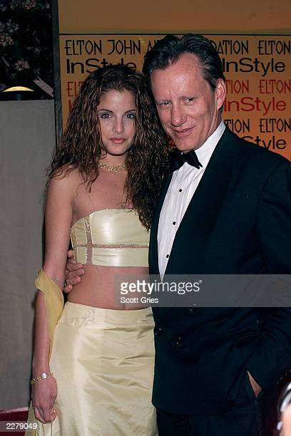 James Woods and date at the Elton John Aids Foundation/InStyle Oscar Party in Los Angeles on March 26 2000