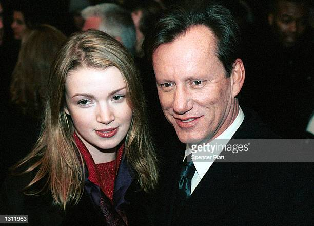 James Woods and his girlfriend Hilary attend the premiere of What Women Want December 11 2000 in New York City