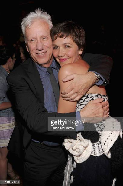 "James Woods and Maggie Gyllenhaal attend ""White House Down"" New York Premiere at on June 25, 2013 in New York City."