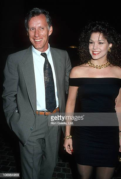 James Woods and Paula Trickey during The TV Academy Tribute to Angela Lansbury at Beverly Hilton Hotel February 22 1990 at Beverly Hilton Hotel in...