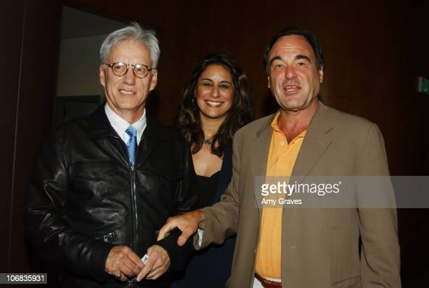 James Woods Bonnie Abaunza director of Artists for Amnesty and Oliver Stone