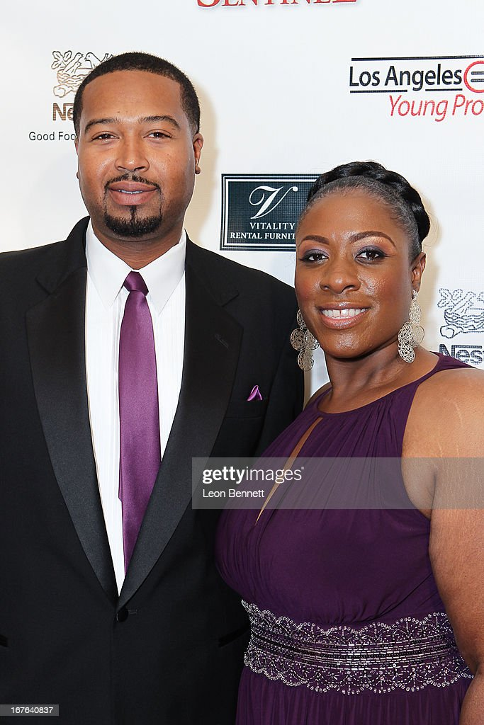 James Woods Jr. and Abby Harris arrived at the LA Urban League Young Professionals 3rd Annual To The Nines After Party at The Beverly Hilton Hotel on April 26, 2013 in Beverly Hills, California.