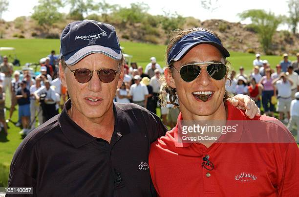 James Woods & Matthew McConaughey during 5th Annual Michael Douglas And Friends Celebrity Golf Tournament Presented By Lexus and Izod To Benefit The...