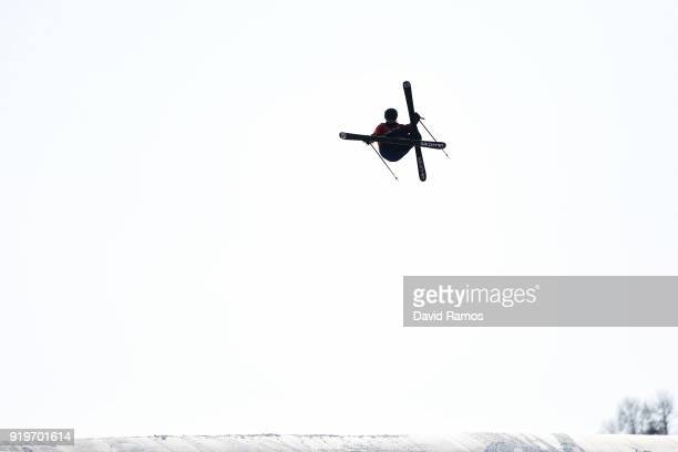 James Woods of Great Britain competes competes during the Freestyle Skiing Men's Ski Slopestyle Final on day nine of the PyeongChang 2018 Winter...