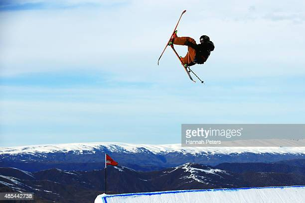 James Woods of Great Britain competes in the FIS Freestyle Ski World Cup Slopestyle Finals during the Winter Games NZ at Cardrona Alpine Resort on...