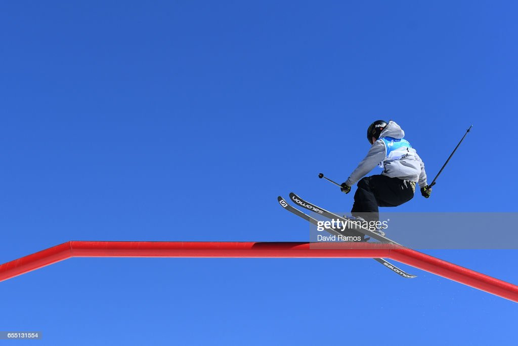 James Woods of Great Britain competes in the Men's Slopestyle final during day twelve of the FIS Freestyle Ski & Snowboard World Championships 2017 on March 19, 2017 in Sierra Nevada, Spain.