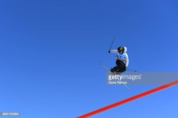 James Woods of Great Britain competes in the Men's Slopestyle final during day twelve of the FIS Freestyle Ski Snowboard World Championships 2017 on...