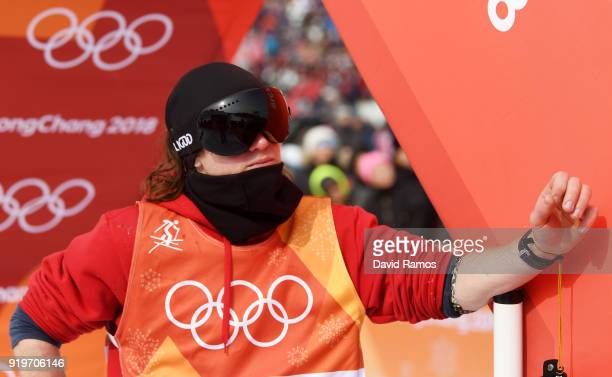 James Woods of Great Britain looks dejected during the Freestyle Skiing Men's Ski Slopestyle Final on day nine of the PyeongChang 2018 Winter Olympic...