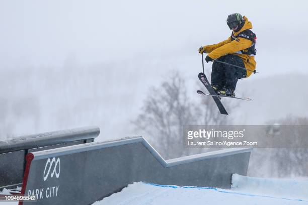 James Woods of Great Britain wins the gold medal during the FIS World Freestyle Ski Championships Men's and Women's Slopestyle on February 6 2019 in...