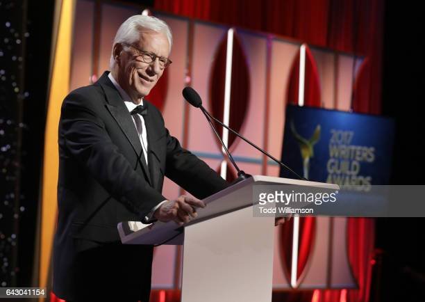James Woods speaks onstage at the 2017 Writers Guild Awards LA Ceremony at The Beverly Hilton Hotel on February 19 2017 in Beverly Hills California
