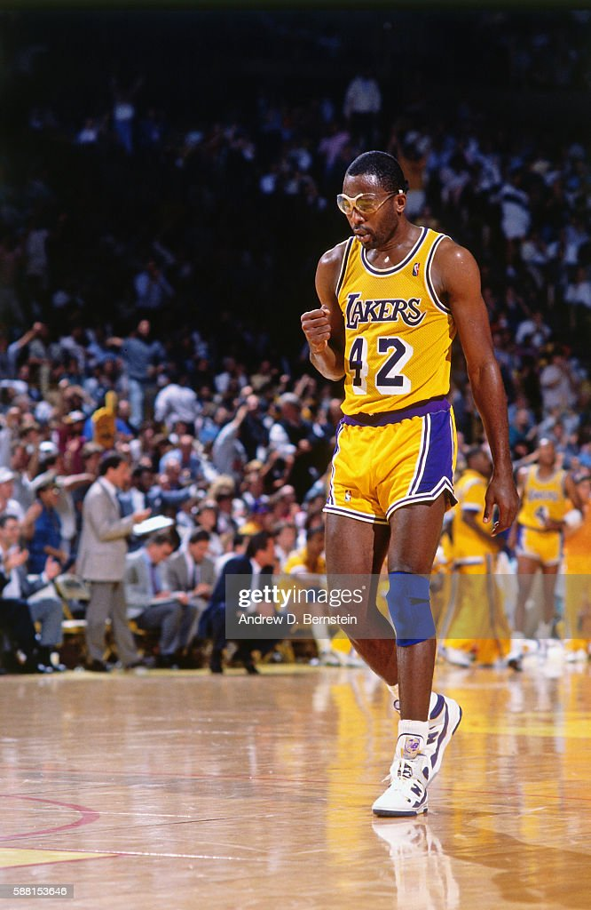 779d4b3ed3a James Worthy of the Los Angeles Lakers looks on during a game circa ...