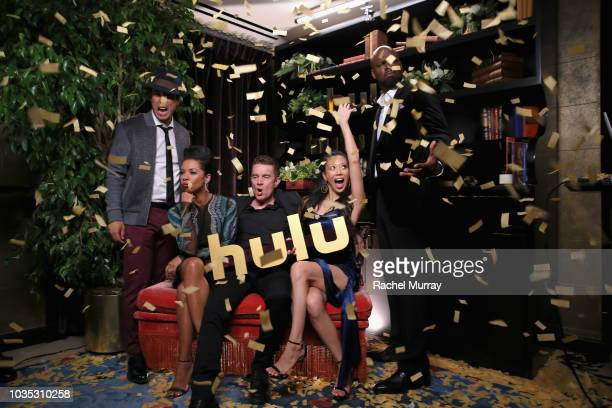 James Yaegashi Angel Parker James Marsters Brittany Ishibashi and Ryan Sands attend Hulu's 2018 Emmy Party at Nomad Hotel Los Angeles on September 17...