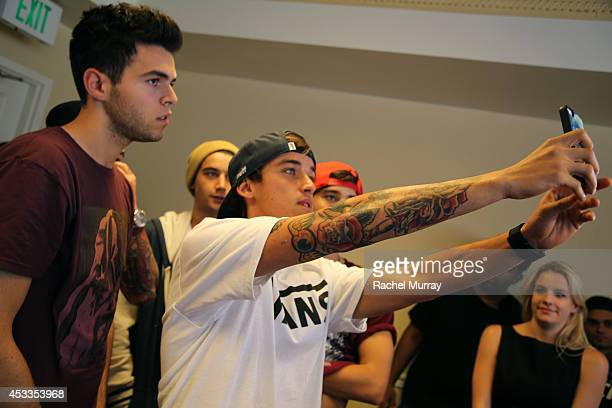 James Yammouni and Beau Brooks attend Teen Vogue's Back To School Saturdays KickOff at Del Amo Fashion Center on August 8 2014 in Torrance California