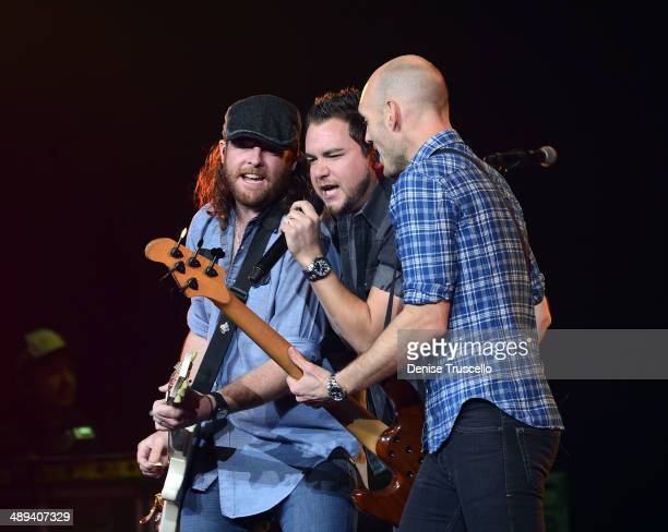 James Young Mike Eli and Jon Jones of the Eli Young Band perform at the Pearl inside the Palms Casino Resort on May 10 2014 in Las Vegas Nevada
