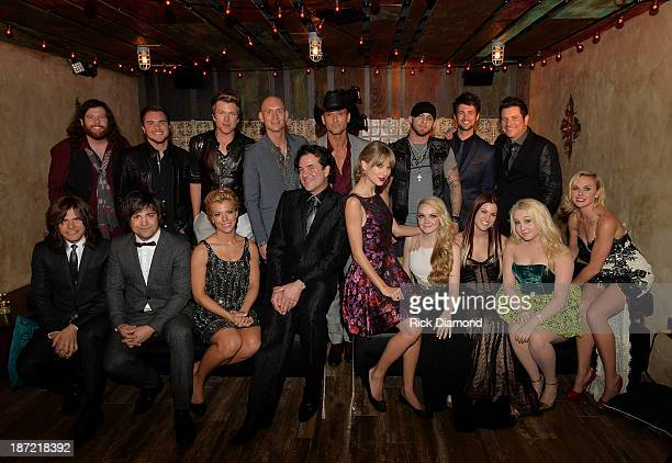 James Young Mike Eli Jon Jones Tim McGraw Brantlee Gilbert Chris Thompson Jay Demarcus Reid Perry Neil Perry Kimberly Perry Scott Borchetta Taylor...