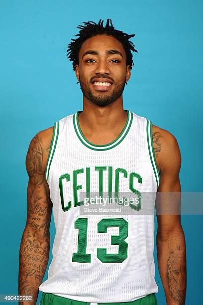 James Young of the Boston Celtics poses for media day on September 25 2015 at the Boston Celtics Training Center in Waltham Massachusetts NOTE TO...