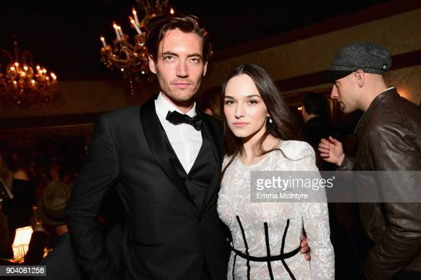 Jameson Burt and Emanuela Postacchini attends The Alienist LA Premiere Event at Paramount Studios on January 11 2018 in Hollywood California 26144_017