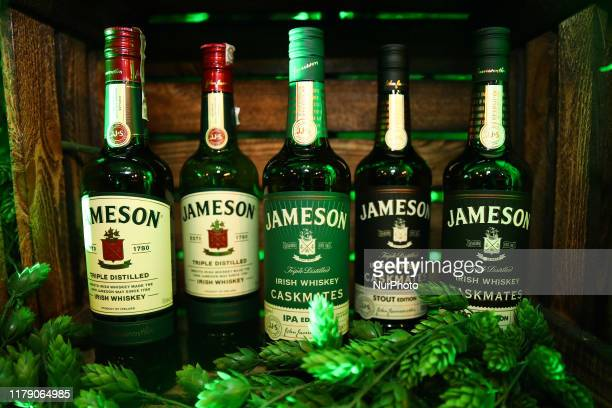 Jameson Irish Whiskey bottles are seen in Krakow, Poland on August 10, 2019.