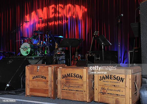 Jameson signage at the Jameson Best Fest launches Petty Fest at The Fillmore on February 27 2013 in San Francisco California