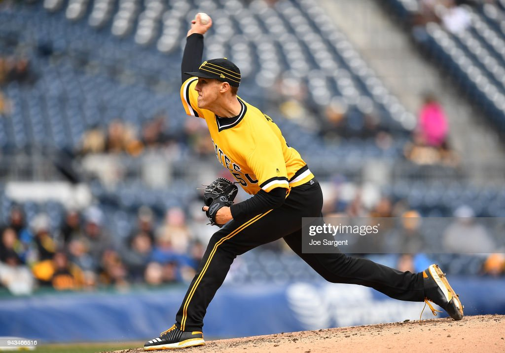 Jameson Taillon #50 of the Pittsburgh Pirates pitches during the ninth inning against he Cincinnati Reds at PNC Park on April 8, 2018 in Pittsburgh, Pennsylvania.