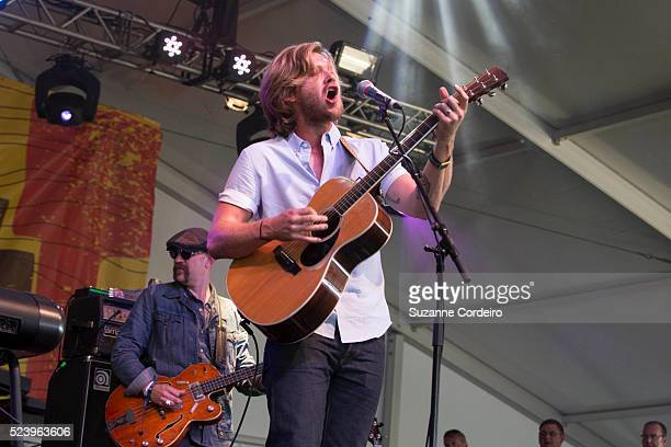 Jamestown Revival perform on stage during weekend one day two of the Austin City Limits Music Festival at Zilker Park on October 5 2014 in Austin...
