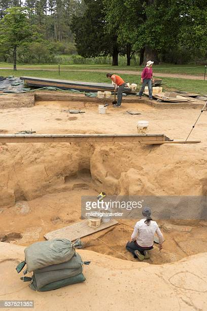 Jamestown Settlement Virginia archaeological dig site Colonial National Historical Park