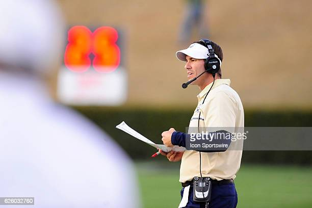 Jamey Chadwell head coach Charleston Southern University Buccaneers walks the sideline during the first round of the NCAA Division I Football...