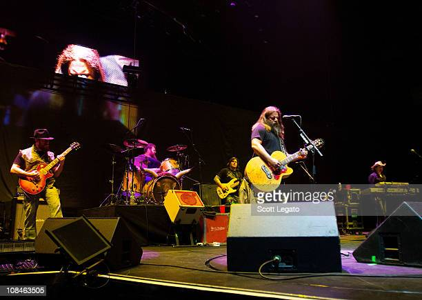 Jamey Johnson and band members perform at Huntington Center on January 26 2011 in Toledo Ohio