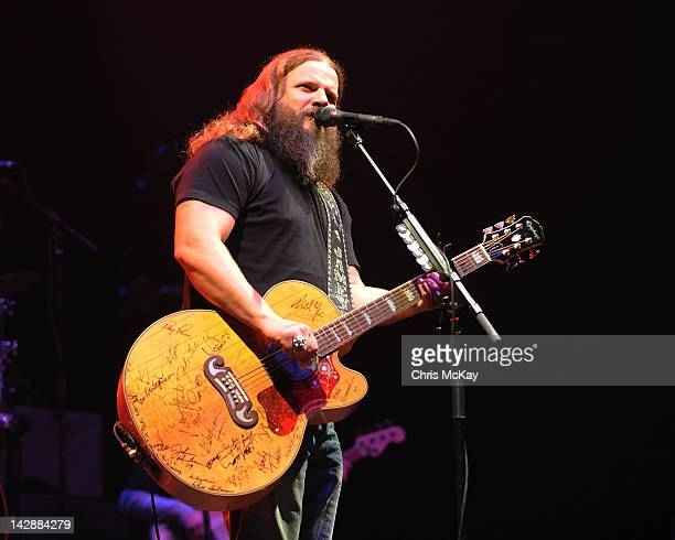 Jamey Johnson performs at the Arena at Gwinnett Center on April 13 2012 in Duluth Georgia
