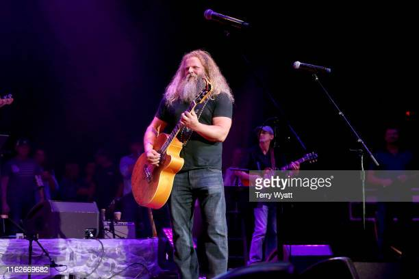 Jamey Johnson performs onstage during the 6th Annual Georgia On My Mind presented by Gretsch at Ryman Auditorium Nashville on July 17 2019 in...