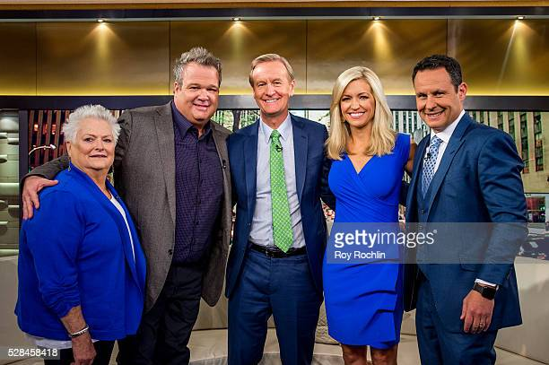 Jamey Stonestreet with son Eric Stonestreet and Fox News Hosts Steve Doocy Ainsley Earhardt and Brian Kilmeade during actor Eric Stonestreet and...